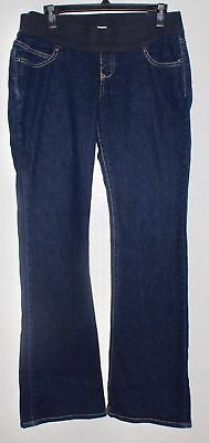 Old Navy Maternity Womens Low Waist Stretch Navy Denim Jeans Pants 8L M EUC 421