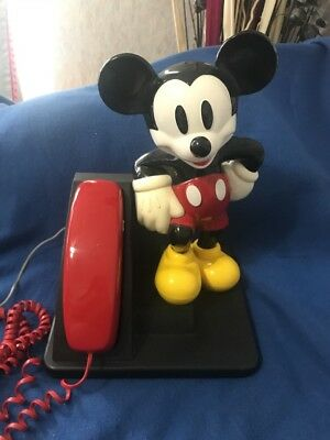 Vintage  AT&T Mickey Mouse Desk Phone 1994 ADORABLE!!