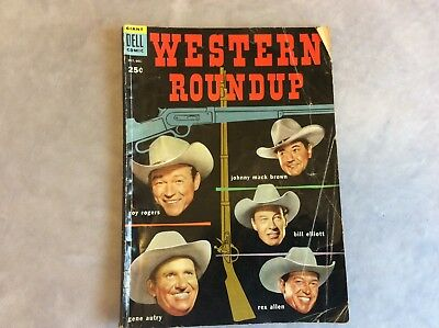 Vintage Western Roundup Comic Book #8 Dell Giant Comics Oct - Dec 1954