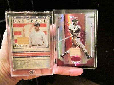 Babe Ruth 2005 Donruss Signature Series HOF-31 Game Used Card w/Free Stan Musial