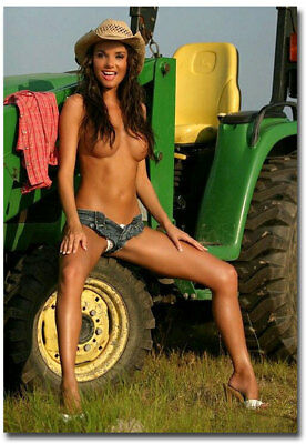 """Sexy Farmer's Daughter Tractors Fridge Toolbox Magnet Size 2.5"""" x 3.5"""""""