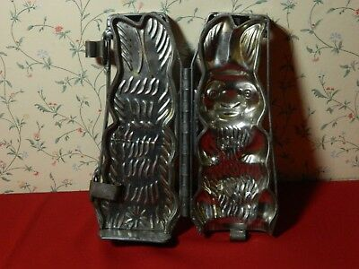 Vintage Antique Bunny Rabbit Chocolate Candy Mold Metal