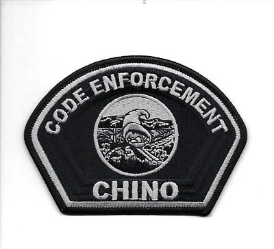 Chino Code Enforcement, California police patch