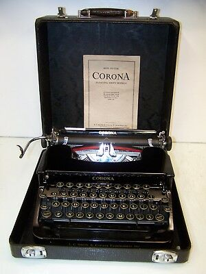 Antique 1936 Smith Corona Sterling Model Vintage Typewriter