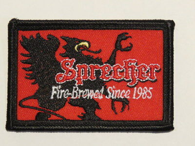 Cool Beer Fabric Patch ~ SPRECHER Brewery ~ Glendale, WISCONSIN Since 1985