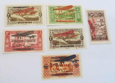 Lebanon 1926 - 29 small collection various overprints unused