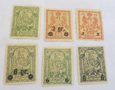 Poland 1915 Local Warsaw Town stamps unused