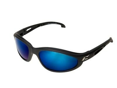 Edge Eyewear TSMAP218 Dakura Polarized Glasses, Black/Aqua Precision Blue Lens