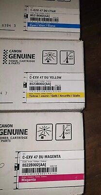 Genuine New Canon C-EXV47 Drum Units x 3 iR  Adv C250, 350i