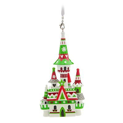 Disney Parks Fantasyland Castle Holiday Christmas Ornament New With Tags