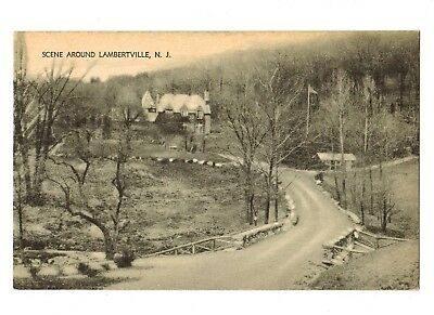 Lambertville Mountain Home Postcard Hunterdon County NJ unmailed circa 1930's