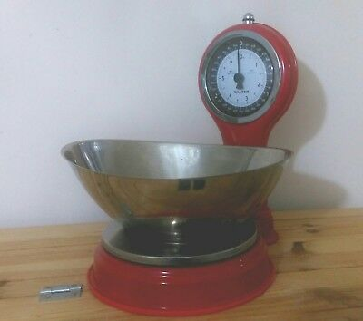 Retro Red Salter scales Used from Sweet Shop