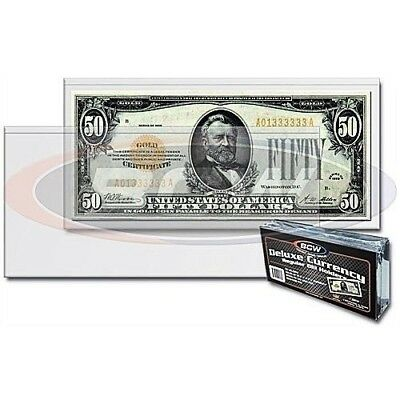 3 BCW Semi Rigid Regular Holder Sleeve Banknote Bill Deluxe Protector