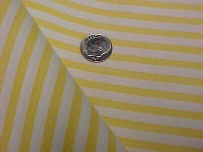 """4 yd Vintage Antique Cotton Quilt Doll Fabric Stripes Yellow 36"""" wd Sew Material"""