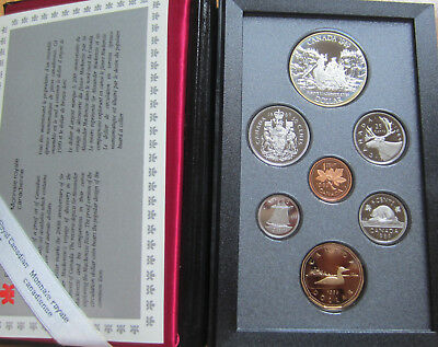 1989 Canada Proof Double Dollar Set (7 Coins Cent to Silver Dollar Mint Set)