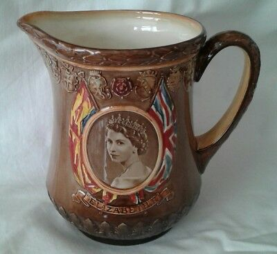 Royal Doulton Queen Elizabeth 11 1953 Coronation Jug.