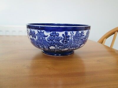 Beautiful  Doulton Burslem 'Willow' Large Footed Bowl C 1892 - 1902