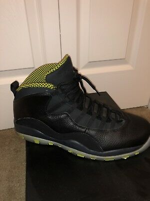 huge sale 54e7b 48ab7 AIR JORDAN RETRO 10 - Black/Venom Green - size 13
