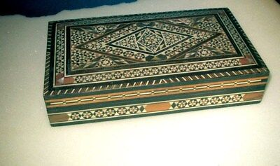 Vintage Middle Eastern Inlayed Wooden Cigarette Box