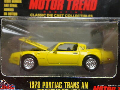 Racing Champions MINT 1978 PONTIAC TRANS AM Yellow '78 MOTOR TREND Iss 147