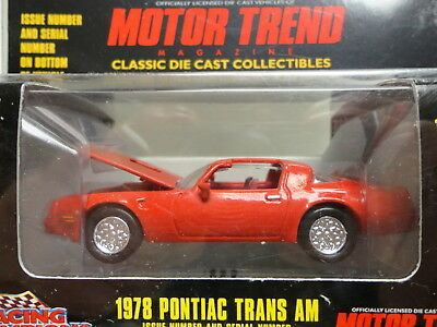 Racing Champions MINT 1978 PONTIAC TRANS AM Red '78 MOTOR TREND Iss 137