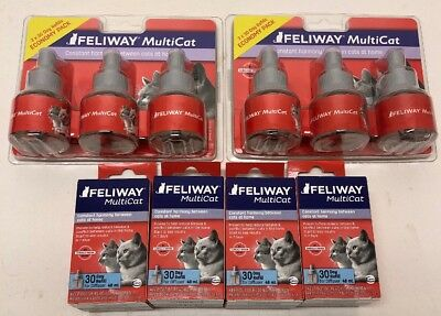 NEW! Ceva Feliway Multicat 30 Day Refills for Cats 10 Refills for Diffuser