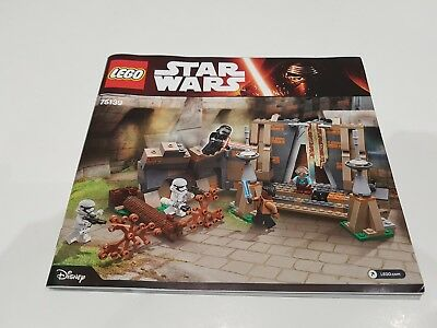 Lego star wars 75139 INSTRUCTION MANUAL ONLY Battle on Takodana
