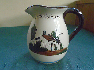 Brixham Pitcher Type Jug - Do What You Can.... Babbacombe Pottery Torquay Ware