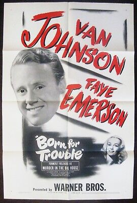 Murder In The Big House (Born For Trouble) 1945 Van Johnson Faye Emerson Poster