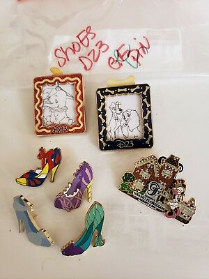 Disney Trading Pins-Lot of 7-No Duplicates-LE-HM-Rack-Cast-Free Shipping