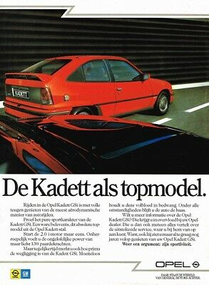 1987 Opel Kadett E GSi (Dutch, 1pg.) Advertisement (AAE.385)