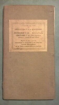 chemins de fer PLM Paris Lyon Mediterranee Instruction 534 frein continu