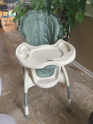 graco baby high chair with wheels and cushion