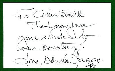 Donna Fargo Country Western Pop Singer Songwriter Signed 3x5 Index Card T0932