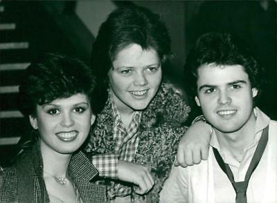 Marie, Jimmy and Donny Osmond from The Osmonds - Vintage photo