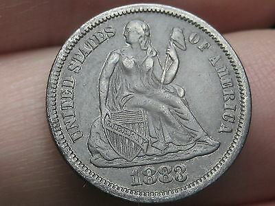 1883 P Seated Liberty Dime- XF Obverse Details
