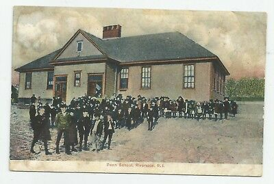 c1907 Dean School Children Riverside East Providence RI POSTCARD