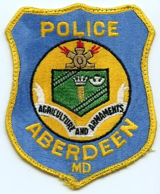 "Aberdeen Maryland Police Department 4.75"" Patch Law Enforcement Officer LEO"