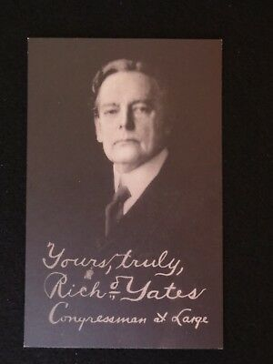 Postcard for Richard Yates for Congressman at Large from Illinois in 1932