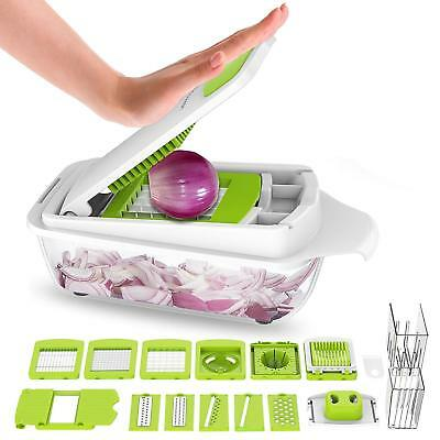 Multifunctional Adjustable Vegetable &Fruit Chopper Dicer with Storage Container