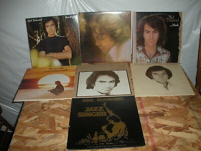 Lot of 7 Different Neil Diamond record albums LP instant collection a