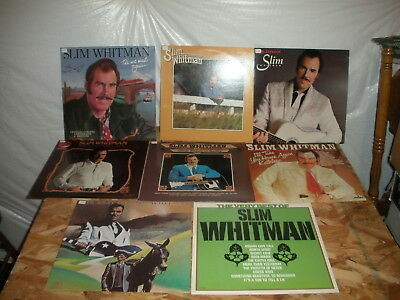 Lot of 8 Different SLIM WHITMAN record albums LP instant collection b