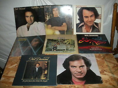 Lot of 8 different Neil Diamond record albums LP instant collection b