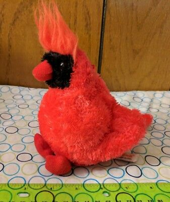 Aurora Red Cardinal Bird Plush Stuffed Animal Toy 6 00 Picclick