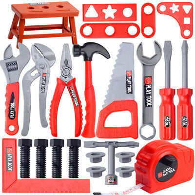 Toddler Boy Toy Tool Set Box Workbench Pretend Play Kids Drill Learning Game
