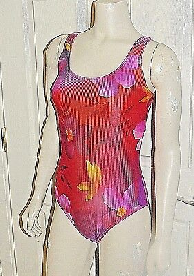 Catalina Ruby Red Floral Plus Size Womens 1 Pc Swimsuit Bathing Suit 1Xlg