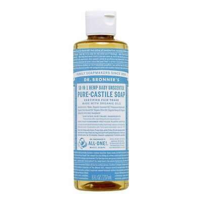 Dr. Bronner's Pure Castile Soap - Baby Unscented Eco Environmentally Friendly