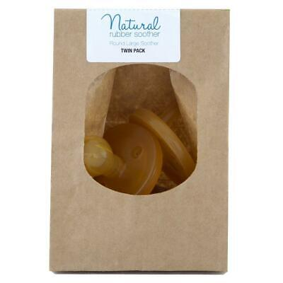 Natural Rubber Soother Round Twin Pack Eco Enviromentally Friendly