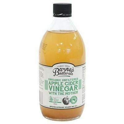 Barnes Naturals Organic Unfiltered Apple Cider Vinegar (500ml) Eco Enviromentall
