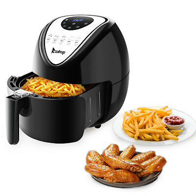 1800W 5.3L LCD Electric Air Fryer W/7 Cooking Presets,Temperature Control,Timer